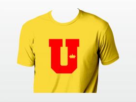 U yellow T-krekls